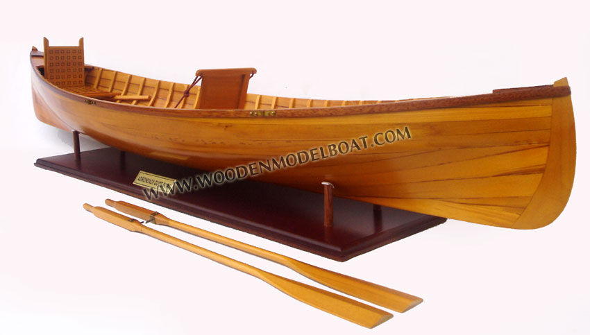 Wooden Model Adirondack Guide Boat