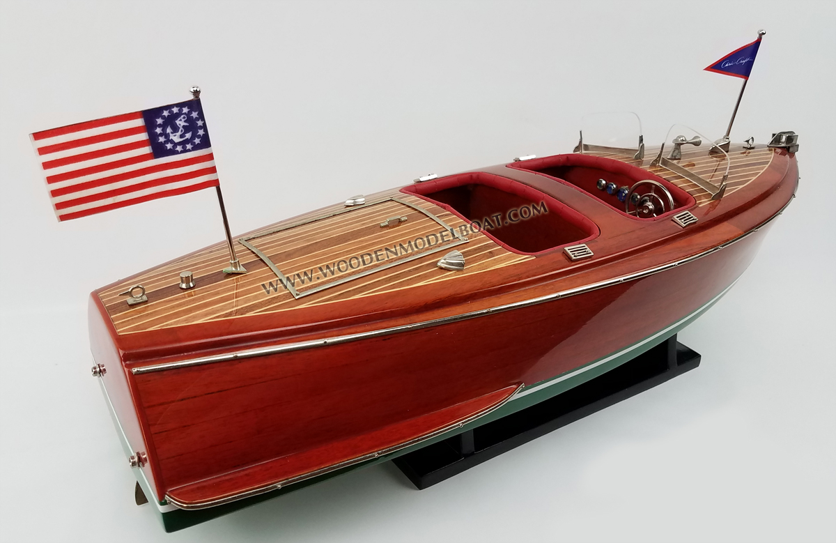 chris craft model boat model boat chris craft deluxe runabout 1942 3549
