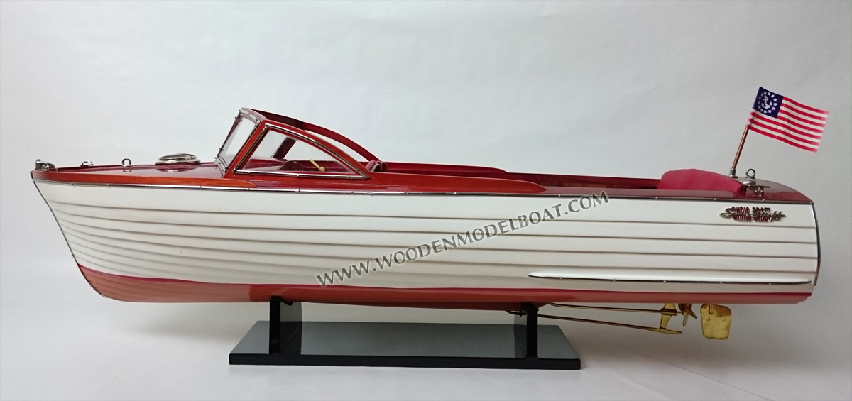 """Chris Craft Sea Skiff Ship Model 26/"""" HandCrafted Wooden Model Scale 1:10 NEW"""