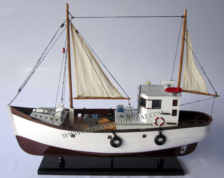 Model vintage fishing boat for Old fishing boat