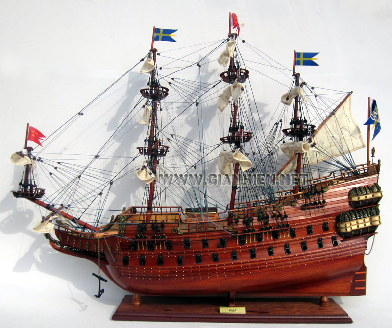 Wasa Handcrafted Ship Model Ready for Display